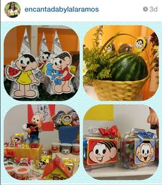 Turma da monica Malu, School Parties, Lunch Box, Alice, Scrap, Party, Party Favors, Ideas Para Fiestas, Party Wall Decorations