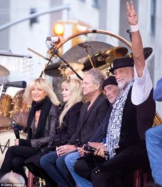 """Fleetwood Mac, the last of the great 1970's supergroups, relinking their chain once more on the """"Today"""" show (NBC), 9 October 2014."""