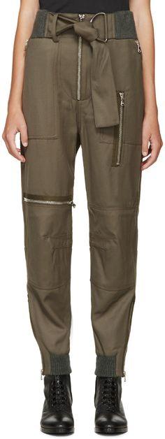 3.1 Phillip Lim - Green Flight Pants