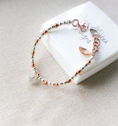 Rose+gold+bracelet+silver+bracelet+jewellery+by+JaneAkesterDesigns