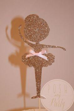Ballerina Cake topper Ballet theme birthday Cake by PoshMyParty (diy birthday cake pops) Ballet Cakes, Ballerina Cakes, Ballerina Baby Showers, Little Ballerina, Ballerina Birthday Parties, Diy Birthday, Cake Birthday, Partys, Birthday Cake Toppers