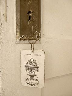 hotel key tag?...