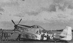 P-51D Mustang 'Fools Paradise IV' fighter of 363rd Fighter Group, US 380th Fighter Squadron at Maupertus Airfield near Cherbourg, Normandy, France, Jul 4-12 1944.