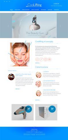 Hoy os presentamos el último diseño web que hemos publicado. En esta ocasión se trata de CooLifting, un tratamiento de rejuvenecimiento facial que desafía el tiempo: propone dedicarle 5 minutos para quitar 10 años.