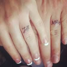 We could get our first initials on our fingers