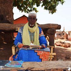 The chief of Larabanga small twon with beautiful mosk (Ghana)