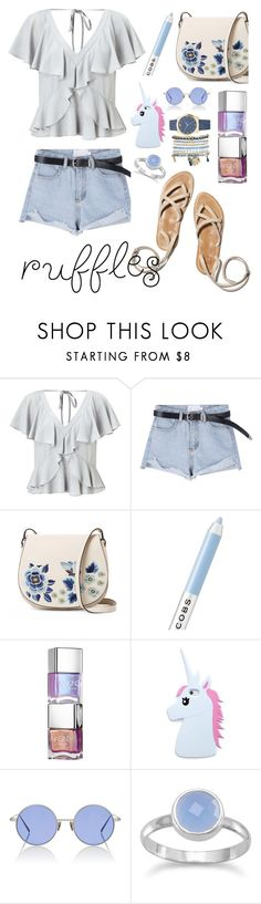 """""""Add Some Flair: Ruffled Tops"""" by nadiahirbah288 ❤ liked on Polyvore featuring Miss Selfridge, French Connection, Marc Jacobs, Forever 21, Acne Studios and Mixit"""