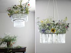 flower chandelier from a test tube