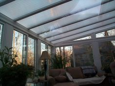 clear sunroom roof and how to insulate it