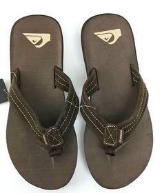 82f78f5e08cbc Quiksilver Men Carver Cork Sandals Flip Flop Size 9 Brown