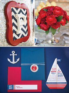 {Amazing} Ahoy! Its a Boy! Nautical Baby Shower: The Invite