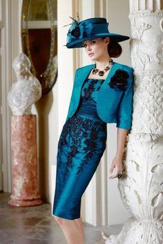formal lace short jackets | Jacket Short Mother of the Bride Dress Knee Length Blue Black Lace ...