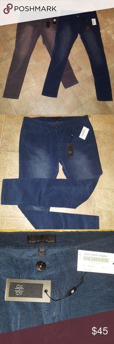 👖 Bundle Deal Velour Pants 👖 Gray(charcoal) & Dark Blue(indigo)slightly faded velour pants. BRAND NEW - NEVER BEEN WORN! Comfortable, soft pants! Black Heart Brigade Pants Straight Leg