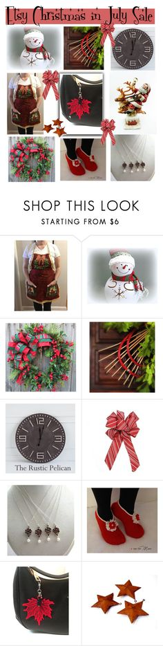 """""""Etsy Christmas in July"""" by belladonnasjoy ❤ liked on Polyvore featuring Chilli Pepper, modern, rustic and vintage"""
