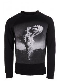 Blood Brother #Nuke Printed #Sweatshirt in Black. #menswear #style #print #bold #statement #shop # online #designer #trend #mens #graphic