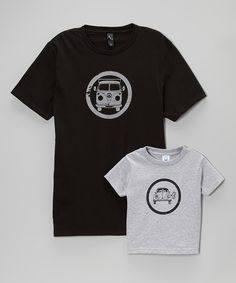 Another great find on #zulily! Little Treetops Black Bus Tee & Gray Bug Tee - Toddler & Men by Little Treetops #zulilyfinds