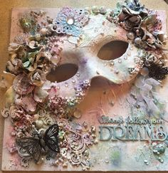 Altered mask canvas Exactly what Is actually Craft Record? Mixed Media Artwork, Mixed Media Collage, Mixed Media Canvas, Hobbies And Crafts, Diy And Crafts, Paper Crafts, Altered Canvas, Altered Art, Craft Projects
