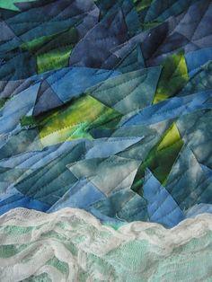 detail, Antarctic Summer by Diana Vincent (Australia) | Fifteen by Fifteen art quilt group