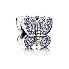 Purple and Lavender Pavé Butterfly Charm £60
