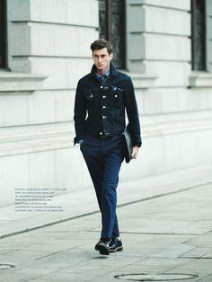 Tie and Denim jacket...cool