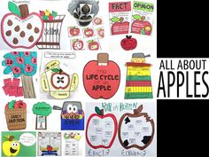 Apple theme activities for science, literacy, and math.  4 weeks worth of cross-curricular lesson plans - Science of September