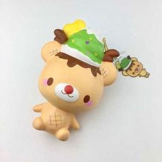 New Squishies, Squishy Kawaii, Charms Lol, Slime Shops, Baby Doll Accessories, Cute Keychain, Christmas Items, Reindeer, Baby Dolls