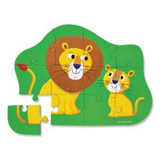 MudPuppy 12 Piece Lion Puzzle - 2 years and up Green