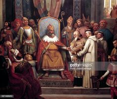 Charlemagne surrounded by his principal officers welcomes Alcuin who shows him manuscripts, work of his monks in Detail of the. Painting by Jules Laure Castles of Versailles and Trianon, Versailles, France. Chief Officer, A4 Poster, Poster Prints, Jim Morrison Movie, Holy Roman Empire, Paris Photography, National Museum, Find Art, Photo Puzzle