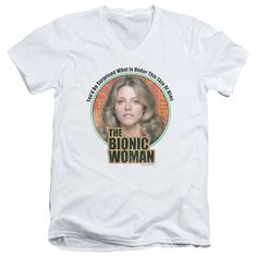 """Checkout our #LicensedGear products FREE SHIPPING + 10% OFF Coupon Code """"Official"""" Bionic Woman / Under My Skin - Short Sleeve Adult V-neck 30 / 1 - Bionic Woman / Under My Skin - Short Sleeve Adult V-neck 30 / 1 - Price: $34.99. Buy now at https://officiallylicensedgear.com/bionic-woman-under-my-skin-short-sleeve-adult-v-neck-30-1"""