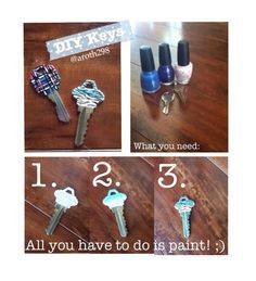 Diy key identifier i did it thanks to pinterest for How to renew old nail polish