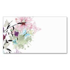 O abstrato floresce o cartão de visita