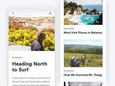 Blog Exploration Mobile