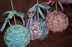 Gourmet Candy Apples  Cotton Candy Collection by SnackRats on Etsy, $30.00