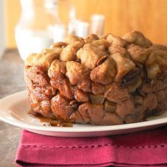 What's better than Monkey Bread? Adding apples to Monkey Bread! Get more slow cooker breakfast ideas here: http://www.bhg.com/recipes/breakfast/6-time-saving-slow-cooker-breakfasts/?socsrc=bhgpin070114applespikedmonkeybread&page=16