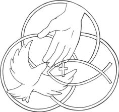 Holy Trinity coloring page from Stained glass category Select