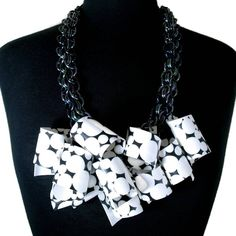 Black & White Polka Dot Signature Necklace
