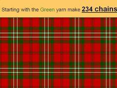 (58) Crochet Scott Clan Tartan blanket/plaid - YouTube