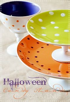 How to make hand painted Candy Stands by the36thavenue.com with DecoArt Gloss Enamels