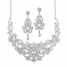 ef28de340bc Fabulous Mariell Crystal Scroll Jewelry Set 2108S for your Quinceanera!  specialoccasionsforless.com Bridesmaid Jewelry