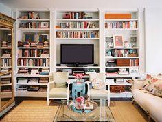 Trendy living room tv wall inspiration bookshelves Ideas Oturma Odası – Home Decoration Bookshelves With Tv, Floor To Ceiling Bookshelves, Built In Bookcase, Book Shelves, Bookcases, Bookcase Styling, Decorate Bookshelves, Bookshelf Wall, Organize Bookshelf