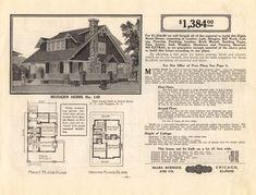 Sears Honor Bilt Modern Homes Catalog 1914. Ready made homes