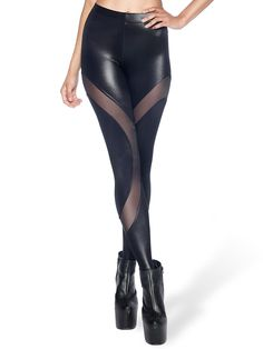 These leggings feature sheer panels that whirl around your legs and wet look fabric so you look like you just got caught in a storm. Fitness Fashion, Fitness Style, Black Milk Clothing, Skirt Leggings, Gareth Pugh, Beach Wear, My Black, Workout Wear, Workout Leggings