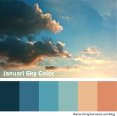Warmer palette with this blue palette for the sky
