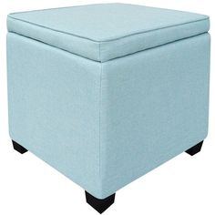light blue ottoman. storage ottoman: room essentials ottoman with feet - light($10 light blue o