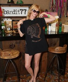 Coachella with Melanie Grifith with Bandit 77 and FreshWata