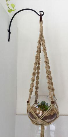 Macrame hemp plant hanger