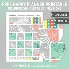 Free Printable Monthly New Beginnings Planner Stickers from My Planner Life