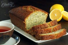 This Lemon and Poppy Seed Pound Cake is a flavorful cake, moist and lemony, great for breakfast time or for coffee/tea break. To print the recipe check the f. Lemon Poppy Seed Pound Cake Recipe, Lemon Bundt Cake, Cake Recipes At Home, Pound Cake Recipes, Bread Recipes, Pound Cakes, Cooking Recipes, Köstliche Desserts, Dessert Recipes