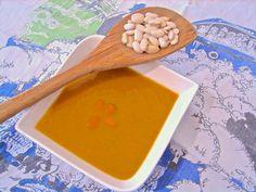 A Sopa Nossa de Cada Dia: Creme de feijão verde com feijão branco