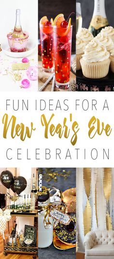 Fun Ideas For A New Year's Eve Celebration!  Great ideas that will make your celebration more fun!